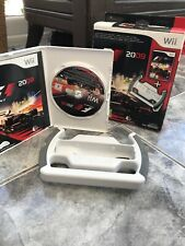 F1 2009 Wii Racing Game With Wheel White Formula 1 Nintendo Tested Sports Car
