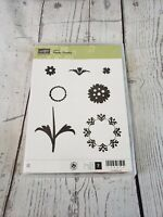Stampin Up Stamp Set Happy Flowers Cling Mount