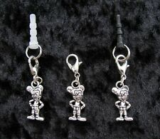 MICKEY MOUSE ~ Clip or Plug In Charm - Dust Cap for Mobiles, iPods, Bracelet