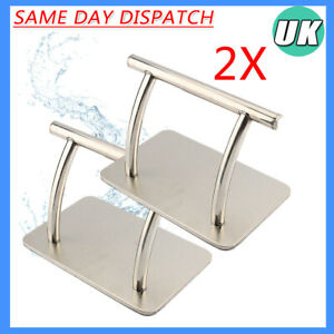 2X Heavy Duty Stainless Footrest Barber Hair Chair Salon Tattoo Beauty Foot Rest