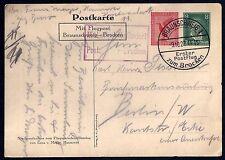 GERMANY 1927 AIR MAIL PC OF GENERAL FIELD MARSHALL VON HINDENBURG BRAUNSCHWEIG