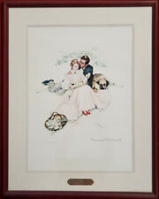 "Norman Rockwell Lithograph ""Flowers In Tender Bloom"", Numbered, COA, PA5496"