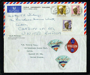 SIERRA LEONE - 1972 & 1973 - TWO COVERS TO ENGLAND - WITH FREETOWN CDS POSTMARKS