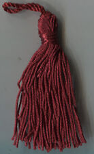 """3"""" CHINESE RED CHAINETTE TASSELS LOT OF 12 HOME DECORATING GRADUATION CAP CRAFT"""