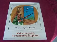 "STILL MINT - 1992 ""Herman"" poster, ""MAKE IT A POINT TO CONSERVE SUPPLIES!"""