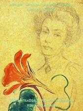 DESSIN & GOUACHE sur carton Capucine Renée GILLOT (Clermont-Ferrand Puy-de-Dôme)