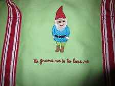 New NWT Garden Gnome me is to love me large green tote bag polka dot