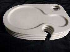 Set of 4 Villeroy & Boch Party  White Snack Bento Appetizer Plates EUC