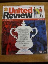 10/03/2013 Manchester United v Chelsea [FA Cup] . Any faults with this item shou