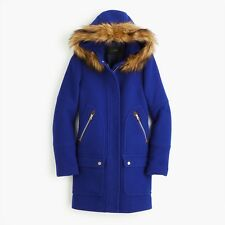 NEW J CREW CHATEAU PARKA  STADIUM CLOTH  COAT,JACKET SZ-6 #G9093 Brunswick Blue