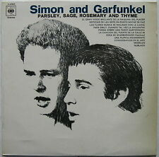 SIMON & GARFUNKEL Parsley, Sage, Rosemary, Thyme 1970's SPAIN LP Different Cover