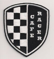 Cafe Racer check shield patch, 3 inch. 59 Club. Triumph. Rocker. Ace.BSA Norton