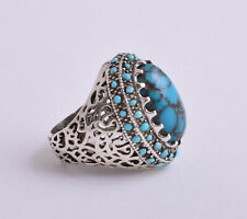 Natural Egyptian Turquoise sterling silver Ring-Middle Eastern