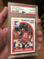 Michael Jordan PSA 10 Gem Mint 1989 NBA Hoops All Star Game