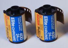 New listing Kodak Elite Chrome 400 Color Slide 35mm Film, 2 Rolls, 24 Exposure. Expired 2002