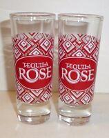 Lot of 2 - Tequila Rose Shot Glasses / Shooters - Bar Promo Liquor Red Diamonds