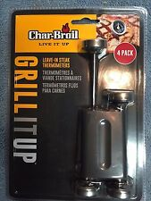 New Char-Broil 4-Pack Leave-in Meat Thermometers Free Shipping