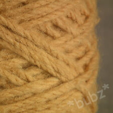 BERBER RUG MAKING WOOL CORN 450g CONE LATCH HOOK CARPET WEAVE YARN ORANGE BB45