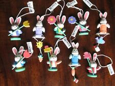 9 Midwest Cannon Falls Easter Lot Nwt Bunny Rabbits ornaments / figures Wow