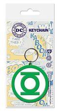 Gummi Schlüsselanhänger GREEN LATERN - Logo - DC Comics - Rubber Keyring  38451