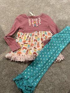 Matilda Jane Girls Size 6 Jam Top Polka Dot Leggings outfit