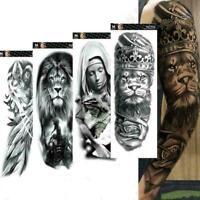 3D Men Arm Tattoo Temporary Tattoos Sticker Fake Tatoo Art Body Waterproof B9J2
