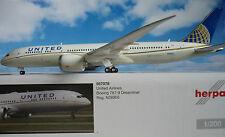 Herpa Wings 1:200 Boeing 787-9 Dreamliner United Airlines 557078