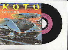 KOTO ♫  Jabdah ♫  1986 . Vinyle 7''( 45 tr ) Electro . Carrere14117