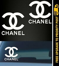 2x Chanel Logo Vinyl Decals Stickers Fashion Car Wall Design 100mm