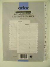 arlac und Telefonregister Art.Nr.660 A-Z Adressen standard format 20 Blatt