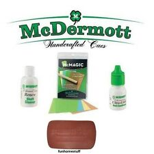 Brand New McDermott Pool Cue Stick Shaft Performance Maintenance Cleaning Kit