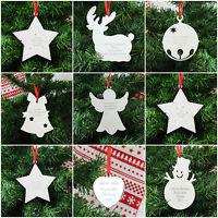 Personalised Engraved Metal Christmas Xmas Tree Decoration Gift Present Ideas