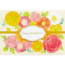 Flower Wreath - Congratulations - Greeting Card