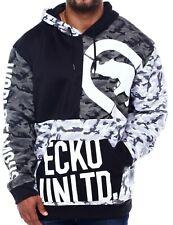 Ecko Unltd Grey White Black Camo Camouflage Mens Big Tall Pullover Hoodie 4X 4XL