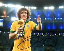 David Luiz signed 10x8 photo Image B UACC AFTAL Registered Dealer COA