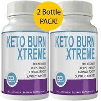 Keto Burn Xtreme Weight Loss Pills 2 Bottle Pack - 800 MG GO BHB Salts