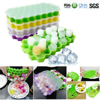 Silicone Ice Cube Tray Ices Jelly Maker Mold Trays with Lid for Whisky Cocktail