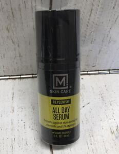 M. Skin Care Replenish All Day Facial Serum for Men, Antioxidant Rich Vitamin-E