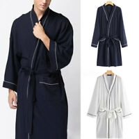 Hommes Femmes Peignoir à manches longues Robe de bain Dressing Homewear Kimono