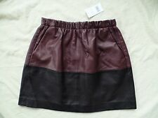 New VINCE Black Colorblock Leather Skirt Size XS $595