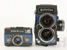 ROLLEI ROLLEIFLEX 4,0 FW AND R35 PROTOTYP SET SILVER/BLUE