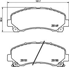 Textar Bremsbelagsatz VA für Isuzu D-Max - Nr. 2514901
