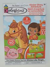 Colorforms Farm Animals Horse Sticker Story Adventure Activity Set Play Board