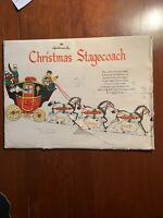 VTG HALLMARK CHRISTMAS STAGECOACH GREAT DECORATION. COMPLETE, NEW,VIBRANT COLOR