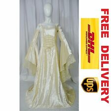MEDIEVAL RENAISSANCE FANTASY WEDDING HANDFASTING GOWN DRESS COSTUME (20L-L)