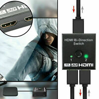 HDMI Splitter BI-Directional Switch 1In2 Out /2 Input 1 Output For TV-Monitor AU