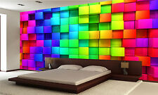 Colorful Cubes Wall Mural Photo Wallpaper GIANT DECOR Paper Poster Free Paste