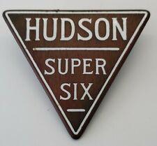 Antique 1928 Hudson Model 8 Roadster Super Six front grill badge emblem