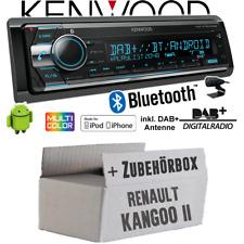 Renault Kangoo 2 Autoradio Radio Kenwood DAB+ Bluetooth CD USB IPHONE Montage