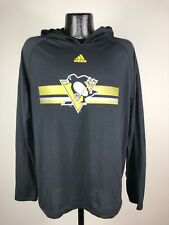 Men's Adidas Ultimate Tee Pittsburgh Penguins Black Sweatshirt Hoodie Large NWOT